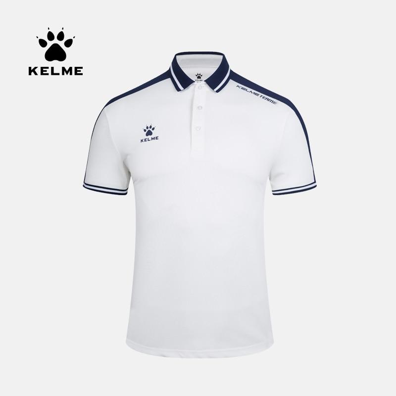 KELME Men's Training Polo T-Shirt  Summer Running Cotton Shirts Casual Short Sleeve Tops High Quantity Polo For Men 3891068