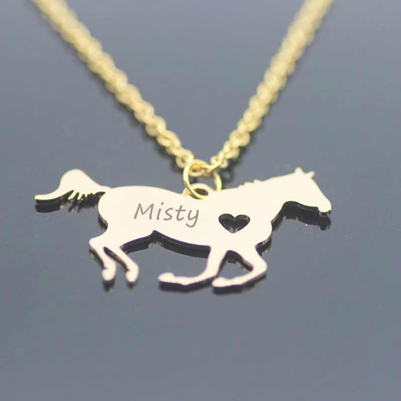 Personalisierte Pferd Liebhaber Geschenk Pferd Schmuck Racing Pferd Halskette Aliexpress Top-verkauf Nehmen Tropfen Verschiffen YP6029