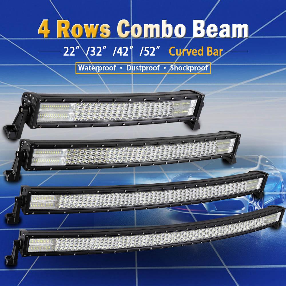 Real Power 22 32 42 52 inch 4 Rows Led Bar for Off Road 4x4 4WD ATV UTV SUV Truck Auto Led Light Bar Car LED Work Light цена