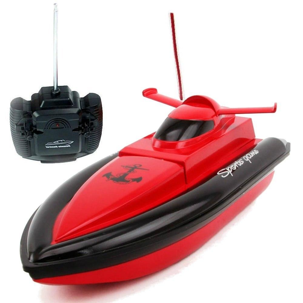 EBOYU (TM) F1 Ad Alta Velocità Barca RC Barca Da Corsa di Telecomando 4 Canali per Piscine, laghi e L'avventura All'aria Aperta (Funziona Solo In Acqua)