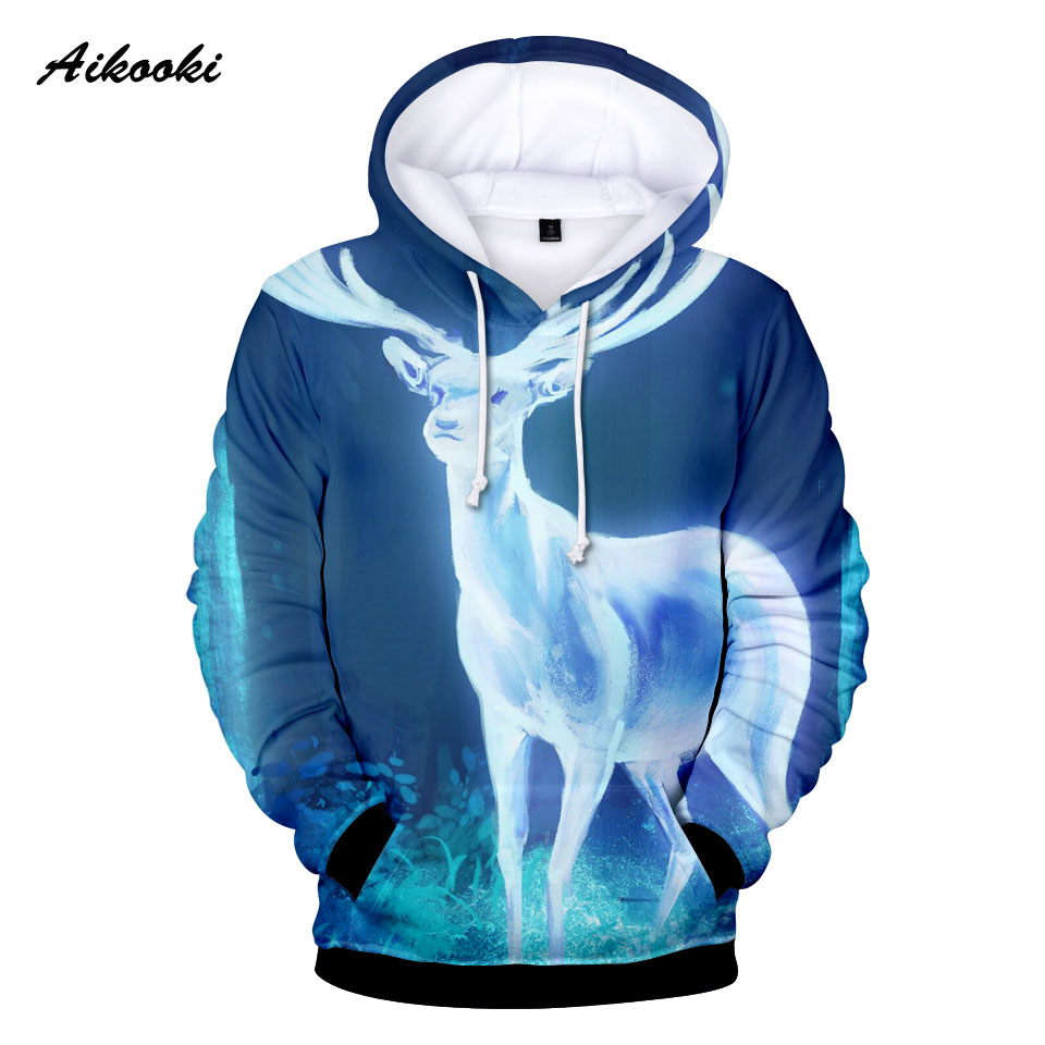 Men's Clothing Aikooki New Deer Men/women 3d Hoodies Sweatshirt Autumn Winter Handsome Fashion Hoodie Casual Brand Sportswear Tracksuit Clothes