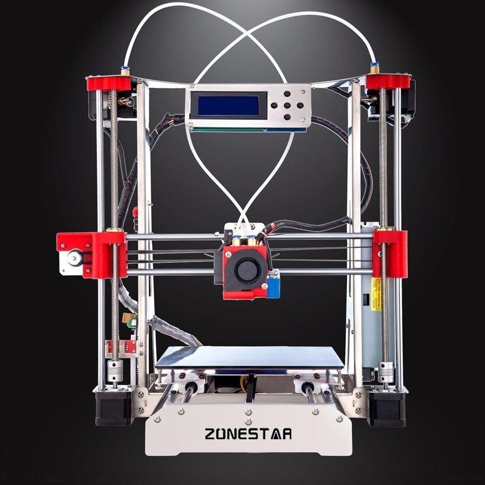ZONESTAR Offre Spéciale Pas Cher Full Metal Double Extrudeuse RepRap i3 Auto Mix Open Source Mise À Niveau Laser Gravure 3D Imprimante DIY Kit
