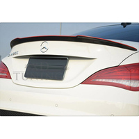 W117 Modified FD Style Carbon Rear Red Line Trunk Luggage Compartment Spoiler Car Wing For Mercedes
