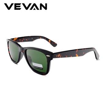 VEVAN Green Glass Lenses Luxury Sunglasses Women Brand designer Acetate Frame Sun glasses For women Multi Color Square Eyewear 4