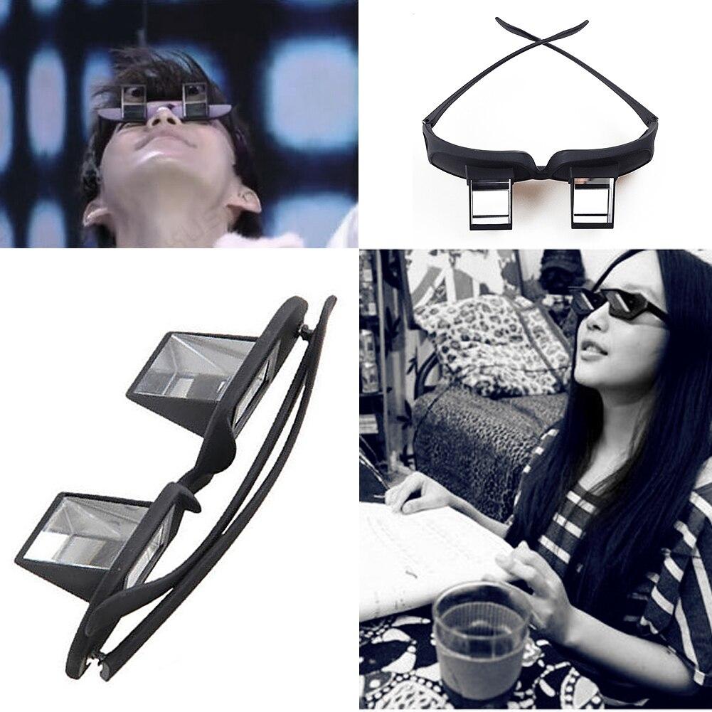 Leitores preguiçosos óculos prisma horizontal óculos de