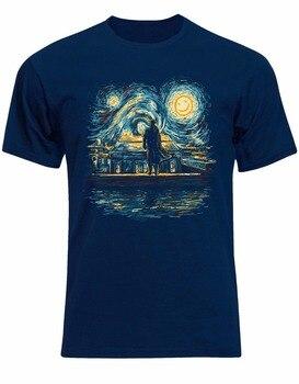 4cf78dea5f7 Camiseta nueva marca Sherlock Holmes parodia de noche estrellada divertida  Benedict Cumberbatch hombres camiseta Al91 Anime ropa Casual
