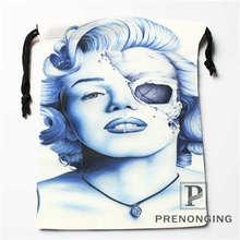 Custom  Marilyn Monroe Drawstring Bags Printing Fashion Travel Storage Mini Pouch Swim Hiking Toy Bag Size 18x22cm #171203@1-05