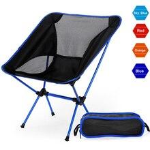 Silla de playa portátil de Camping ligero plegable de pesca exterior Camping al aire libre Ultra ligero naranja rojo oscuro azul sillas de playa