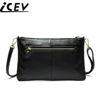 ICEV Classic Simple Cowhide Envelope Day Clutch Crossbody Bags For Women Messenger Bags High Quality Genuine