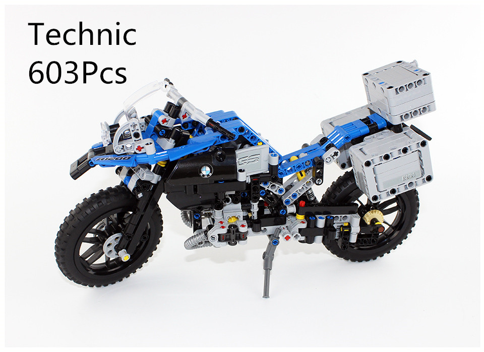 CX 20032 603Pcs Model building kits Compatible with Lego 42063 The Off-road Motorcycles 3D Bricks figure toys for children lepin 20032 technic series the bamw off road motorcycles r1200 gs building blocks bricks educational toys 42063