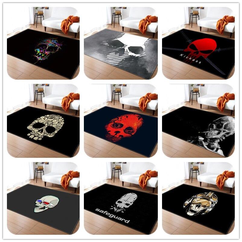 Série squelette imprimer tapis pour salon chambre tapis doux salle de bain tapis de sol antidérapant décor à la maison grande surface tapis et tapis