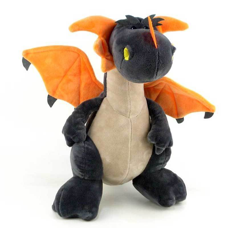 The Plush Dragon Toy Stuffed Animal by NICI Toys Grey 12 Tall Standing Kid Gift brand new crackle the dragon plush from sofia the first show 12 baby toys for children stuffed