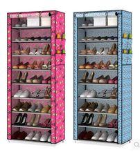 Ковчег получать обувной многослойные пыле стойки простой ткань обуви