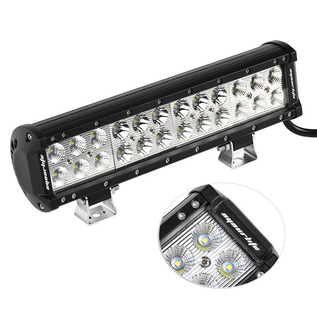 Eyourlife 12 inch 72w led light bar 4x4 offroad led driving lights eyourlife 12 inch 72w led light bar 4x4 offroad led driving lights flood spot combo external aloadofball Images