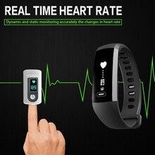Smart Браслет Водонепроницаемый IP67 смарт-браслет крови кислородом Давление сердечного ритма Мониторы Bluetooth Сенсорный экран Смарт-наручные