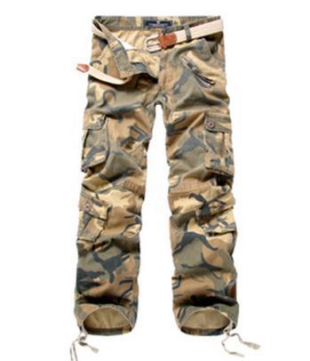 Tamanho grande Mens Contton Calças de Camuflagem Ao Ar Livre Calça Casual Calças Europeus E Americanos de Lazer Calças Masculinas J1234