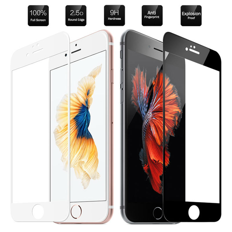 9H Tempered Glass For Apple Iphone 8 7 6 Plus Full Screen Protector HD Iphone8 Iphone7 Iphone6 6plus 8plus 7plus Film Glas Iph I