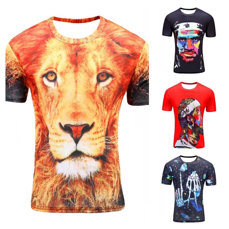 T-shirt för män Anime Fashion Men 3d T-shirt Lion King Summer - Herrkläder - Foto 6