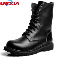 Plus Size 48 Casual Men Boots High Fashion Outdoor Outwear Warm Thicker Leather Flats Shoes Men Footwear Warm Male Cotton-padded