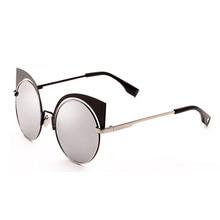 New Women Sunglasses Vintage Cat Eye Sun glasses Metal Eyeglasses Frames Mirror Shades Sexy sunglasses Fashion Vintage Glasses