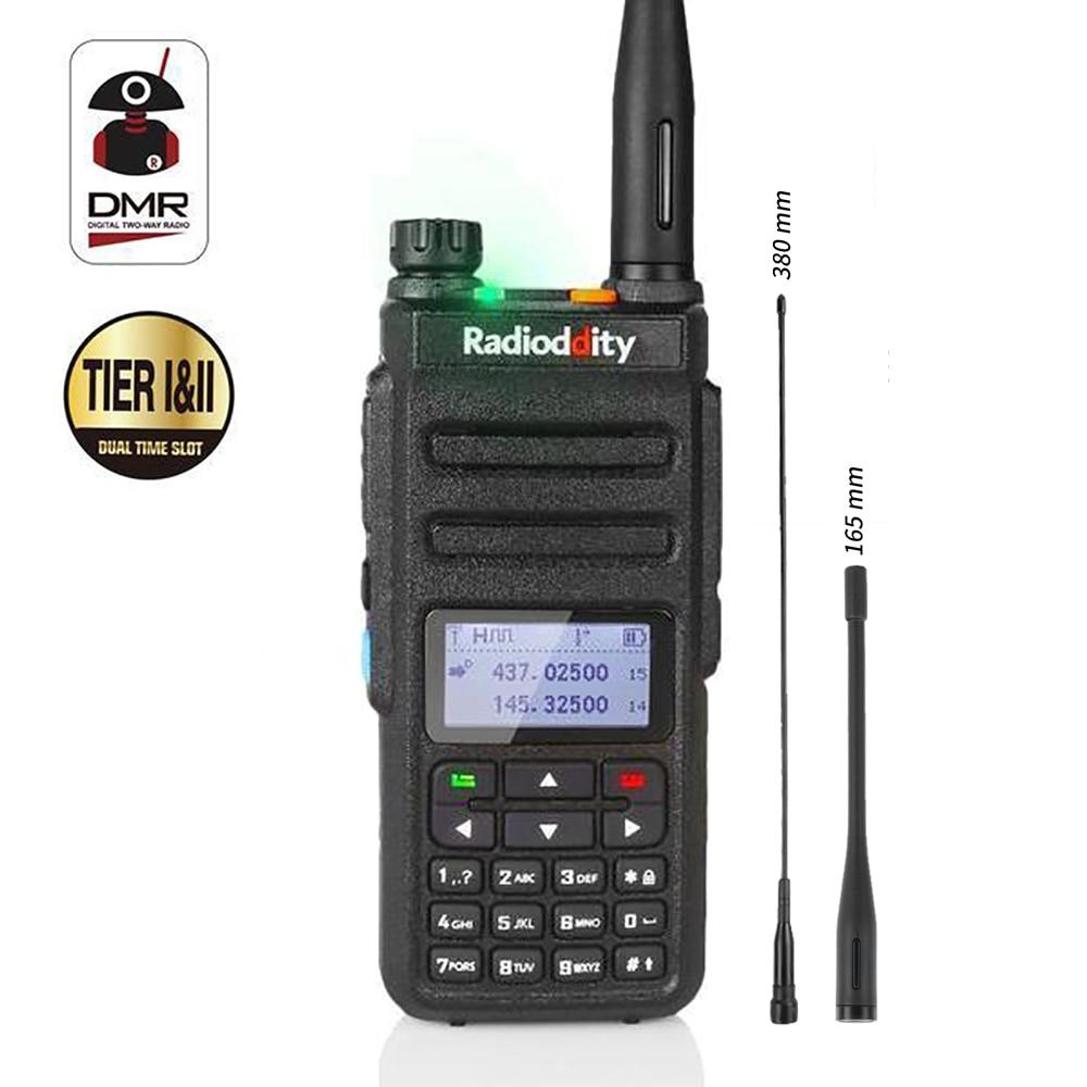 рации 77 - Radioddity GD-77 Dual Band Dual Time Slot Digital Two Way Radio Walkie Talkie Transceiver DMR Motrobo Tier 1 Tier 2 with Cable
