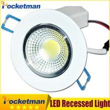 Downlight LED COB 12W 9W 7W LED COB Chip Down light Recessed Light Spot Light Lamp decoration Ceiling Lamp Led ZK35