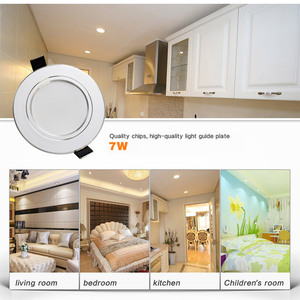 Image 5 - 10pcs/lot led downlight 18W 15W 12W 9W 7W 5W 3W 220V / 110V ceiling lamp recessed downlights round led panel light free shipping