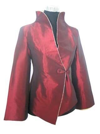 Estilo de la tradición china de Seda de Satén Dama Capa de la Chaqueta prendas d