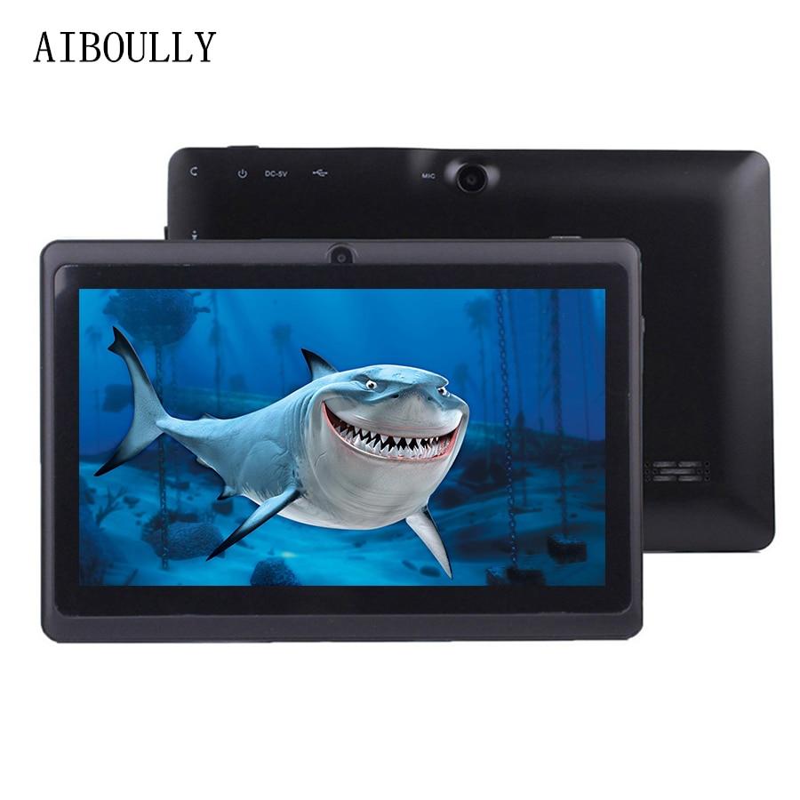 лучшая цена AIBOULLY 2018 Original Kids Tablet PC 7 inch Android 6 Quad Core 1GB Ram 2MP Camera WiFi Bluetooth Microphone 3000 mAh Tab 8''