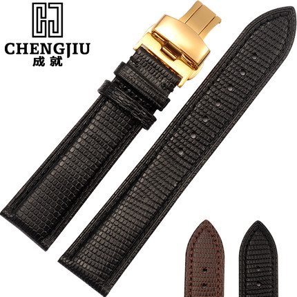 Lizard Snake Grain Calf Skin Leather 12 14 16 18 19 20 21 22 24 mm Men's Watches Straps Black Band Bracelet Belt Watchband Homme цена