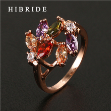 HIBRIDE Jewelry 2017 Hot Sale Luxurious AAA CZ Rings For Women, Female Multicolor Jewelry Rings For Anniversary  QSP0010-5