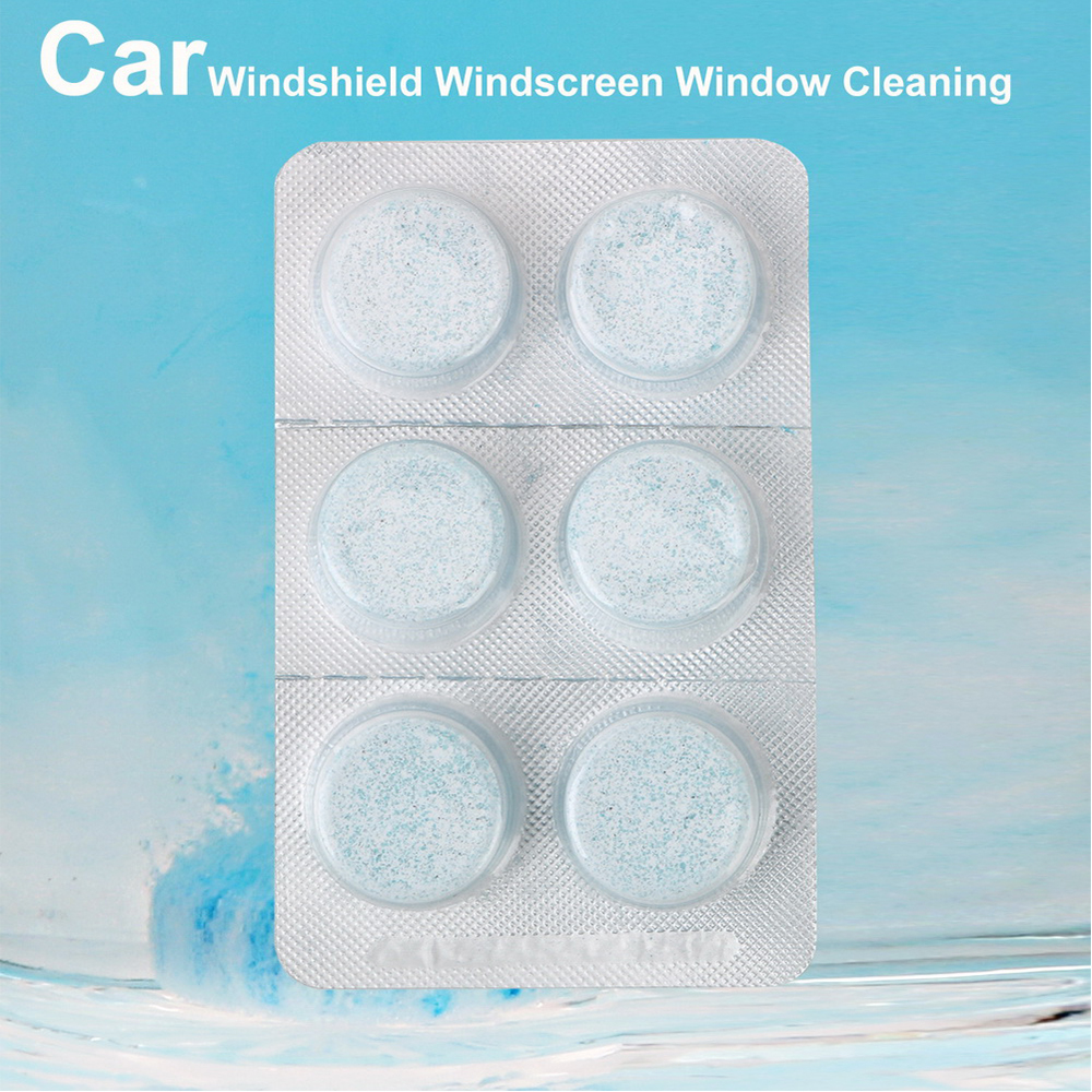 2 Pcs / 6pcs Car Windshield Windscreen Window Cleaning Solid Wiper Cleaner Car Care For Home Glass Clean Auto Accessories