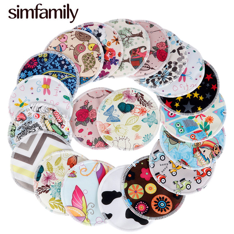 [simfamily]10PCS Bamboo Breast Pad Nursing Pads For Mum Waterproof Washable Feeding Pad Bamboo Reusable Breast Pads