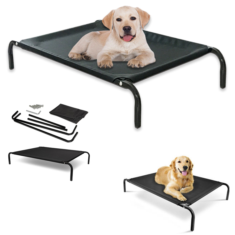 coolaroo elevated pet bed dog cot with cool knitted fabric large orthopedic sh0016china