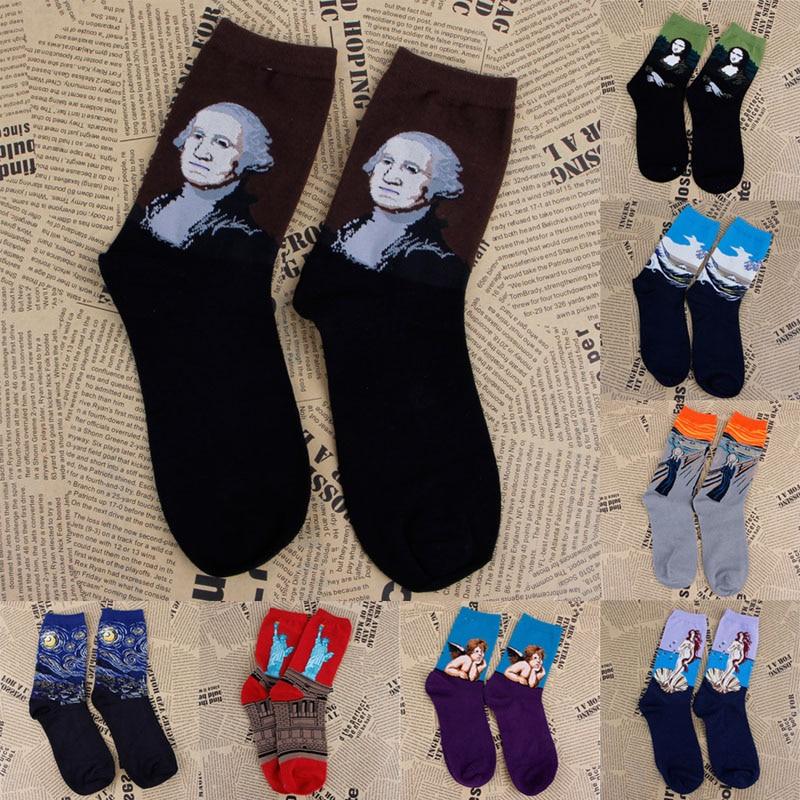 Womens lot Mural Art Comfortable Casual Socks Men Graffiti Unisex Paintings Sock funny socks calcetines