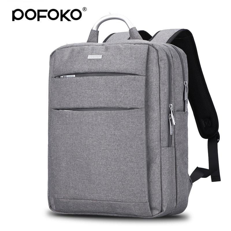 POFOKO Brand laptop bag watweproof  backpack for macbook pro 13 case retina laptop sleeve 13.3 15.4 inch notebook case bag brand coolbell for macbook pro 15 6 inch laptop business causal backpack travel bag school backpack