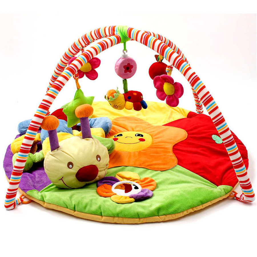 Free Shipping Baby Toy Musical Infant Activity Gym Play Mat Tummy Time Soft Nursery Rug baby toy musical instrument activity cube play center with lights 15 functions