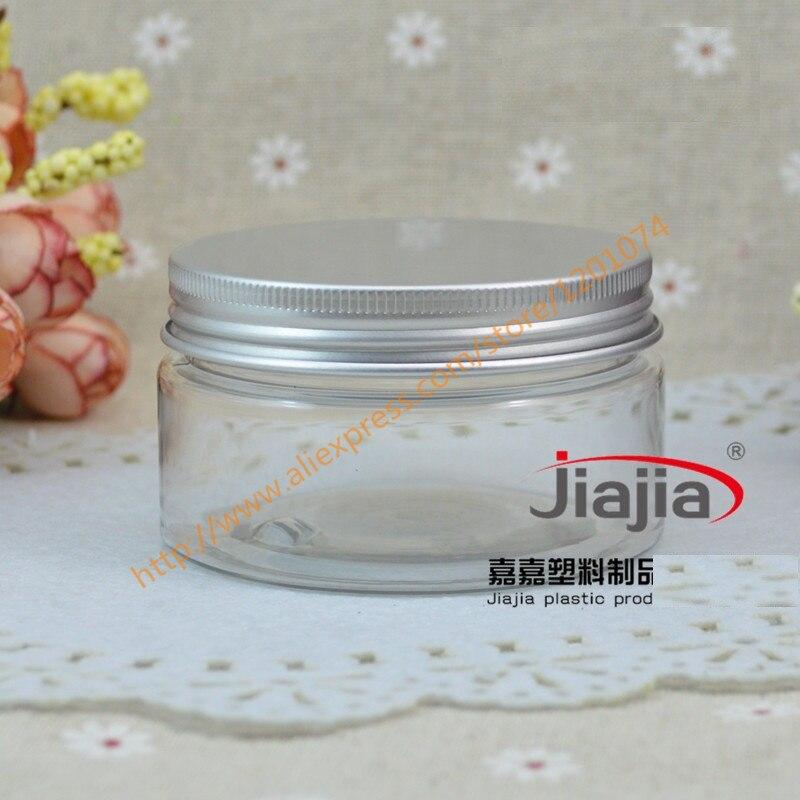 Güzellik ve Sağlık'ten Doldurulabilir Şişeler'de 100 ml Boş Konteyner şekillendirici jel saç vaksı 100g Krem Kavanoz PET Ambalaj gümüş alüminyum kapaklı'da  Grup 1