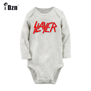 Slayer American Famous Speed Band Design Newborn Baby Boys Girls Outfits Jumpsuit Print Infant Bodysuit Clothes 100% Cotton Sets(China)