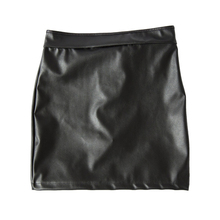 Women's BDSM Lace Up Leather Skirt