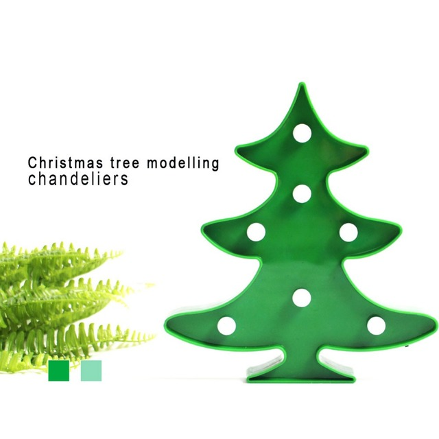creative table led night light christmas tree marquee lamp battery operated controller wall fairy holiday decor - Battery Operated Christmas Trees