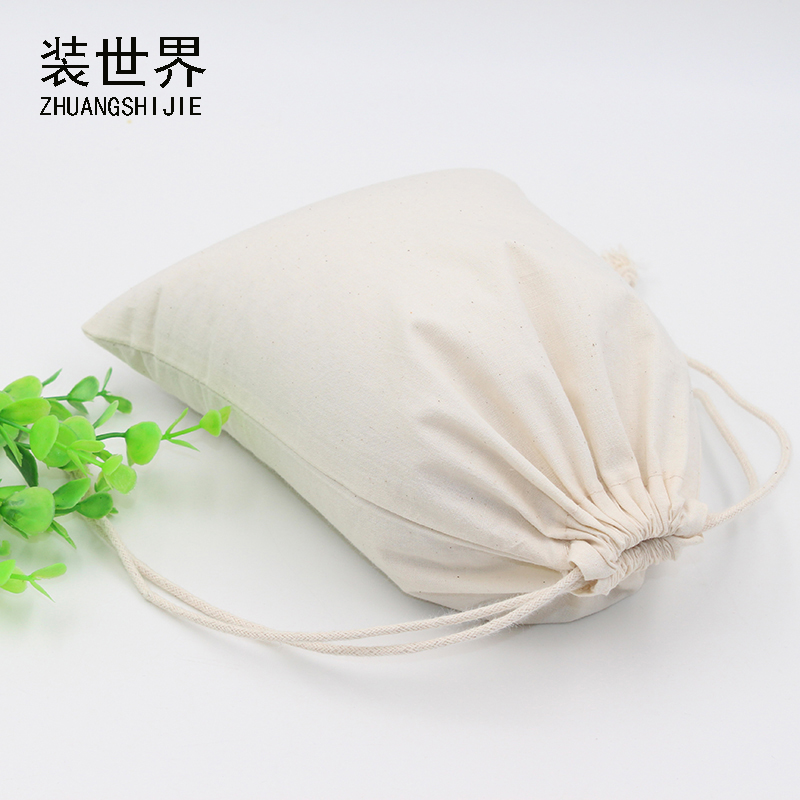 39*49cm Cotton Pouch Clothes Storage Bag Logo Printed Drawstring Bags Candies Food Cookie Packaging Christmas Pouch