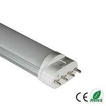 High quality milky /transparent 2g11 led tube light 410mm 15w PL SMD2835 AC85-265V