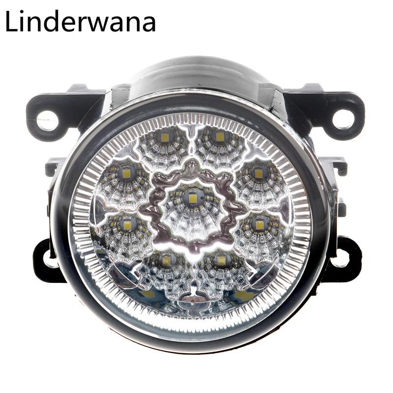 For Dacia Duster Sandero Logan 2004-2015 Car Light Assembly Super Bright Led Fog Lamp DRL Lights 2Pcs 6000k ccc 12v car styling drl fog lamps lighting led lights 9w 1 set for dacia duster sandero logan 2004 2015