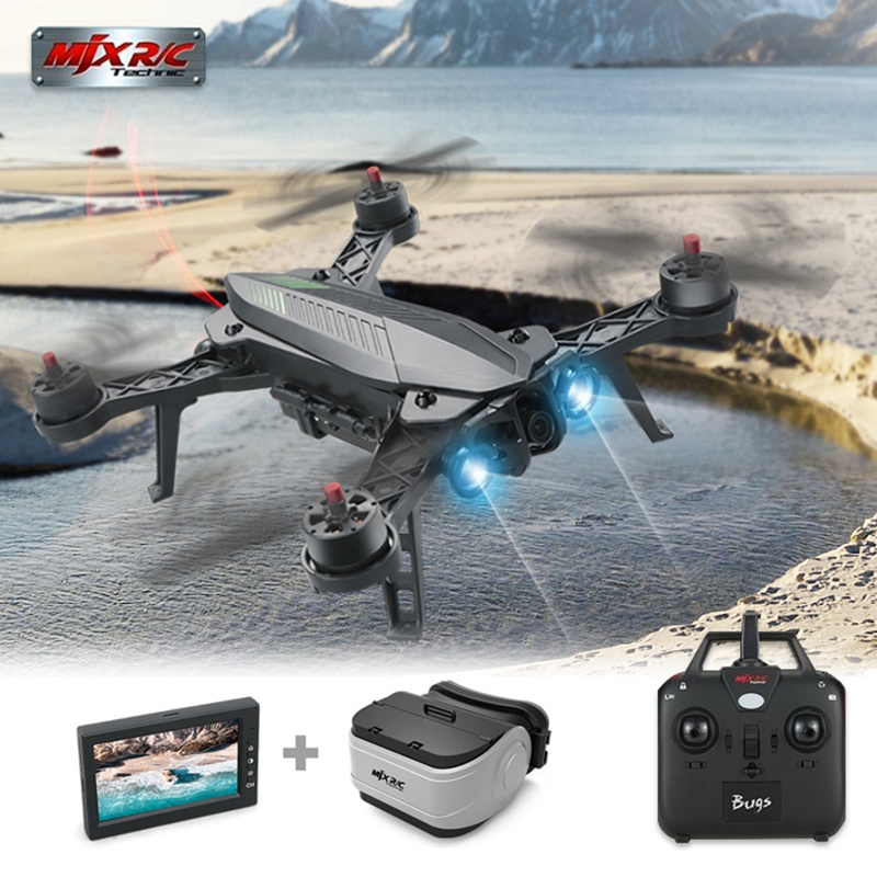 In Stock MJX Bugs 6 Brushless C5830 Camera 3D Roll Outdoor Toy FPV Racing Drone Black Kids Toys RTF RC Quadcopter mjx квадрокоптер на радиоуправлении bugs 3