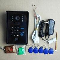 Беспроводной Wifi ip дверной звонок камера RFID пароль видео дверной звонок Домофон Система ночного видения система контроля доступа