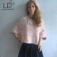 LOVELYDONKEY Cape bat sleeve mink cashmere sweater mink cashmere shawl woman mink cashmere sweater free shipping m672