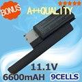 9 celdas 6600 mah 11.1 v batería del ordenador portátil para dell latitude d620 d630 312-0383 312-0386 451-10297 451-10298 jd634 pc764 tc030 td175