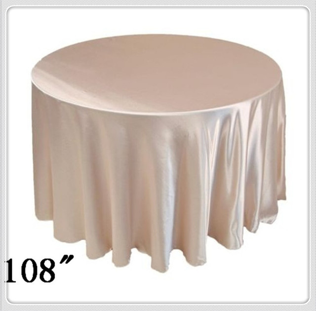 10pcs 108u0027u0027 Round Satin Table Cloths Round Table Cloths For Plastic Table  Cloth