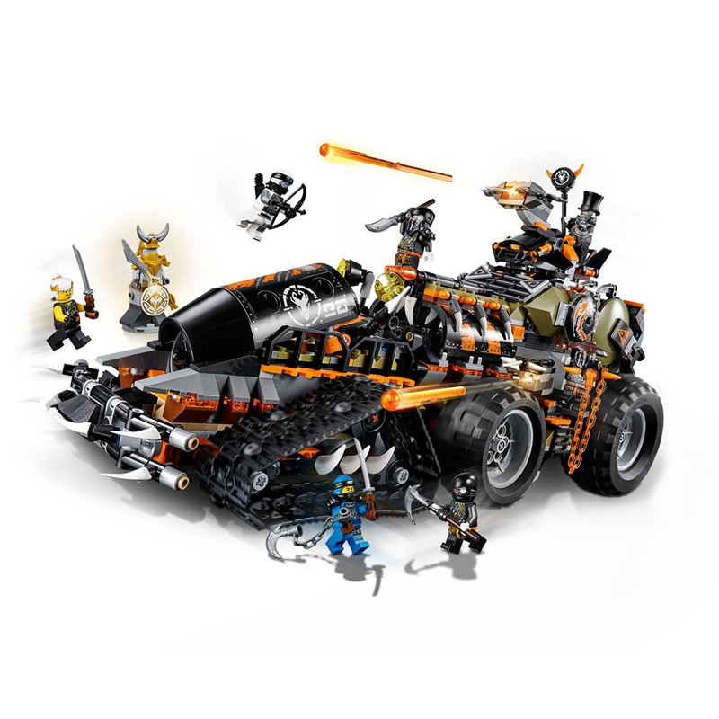BELA Ninjagoed Dieselnaut Building Blocks kits Bricks Sets Ninja Movie Classic Car Model Kids Toy Marvel Compatible Legoings
